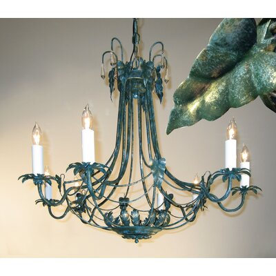 8-Light Candle-Style Chandelier