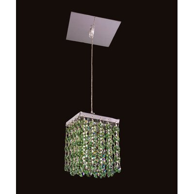 Bedazzle 1-Light Mini Pendant Shade Color: Antique Green