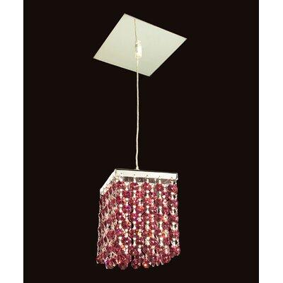 Bedazzle 1-Light Mini Pendant Shade Color: Bordeaux Red