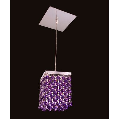 Bedazzle 1-Light Mini Pendant Shade Color: Blue and Violet