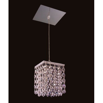 Bedazzle 1-Light Mini pendant Crystal: Swarovski Spectra