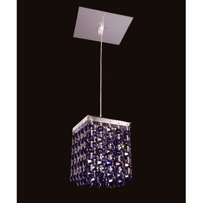 Bedazzle 1-Light Mini Pendant Shade Color: Dark Sapphire
