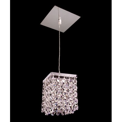 Bedazzle 1-Light Mini pendant Crystal: Crystalique Plus