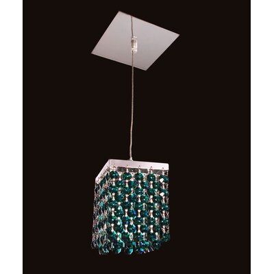 Bedazzle 1-Light Mini Pendant Shade Color: Emerald