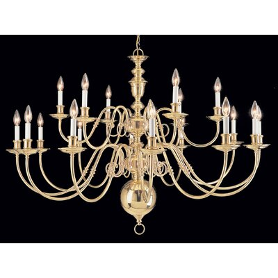 Jamestown 18-Light Candle-Style Chandelier