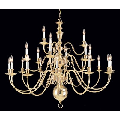 Jamestown 22-Light Candle-Style Chandelier