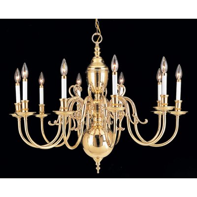 Hermitage 10-Light Candle-Style Chandelier