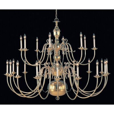 Hermitage 24-Light Candle-Style Chandelier