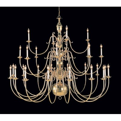 Hermitage 28-Light Candle-Style Chandelier