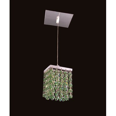 Bedazzle 1-Light Mini Pendant Shade Color: Light Peridot Green