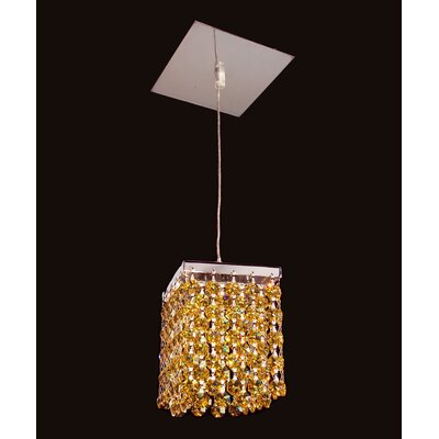 Bedazzle 1-Light Mini Pendant Shade Color: Light Topaz