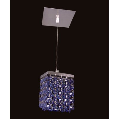 Bedazzle 1-Light Mini Pendant Shade Color: Medium Sapphire