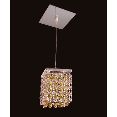 Bedazzle 1-Light Mini Pendant Shade Color: Clear and Light Topaz