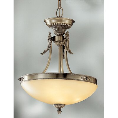 Lauren 3-Light Bowl Pendant