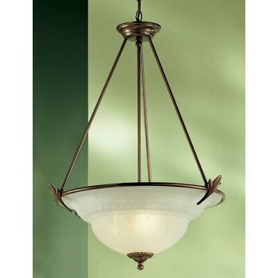 Roma 3-Light Bowl Pendant Finish: English Bronze
