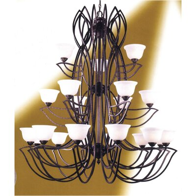 Alpha 21-Light Shaded Chandelier
