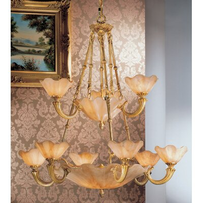 Atlantis 16-Light Shaded Chandelier Finish: Honey Bronze