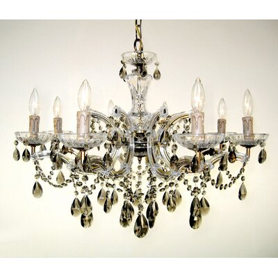 Rialto 8-Light Crystal Chandelier Finish: Rennovation Brass, Crystal: Crystalique-Plus Golden Teak