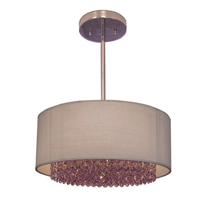 Newport 3-Light Drum Pendant Crystal: Swarovski Elements Violet