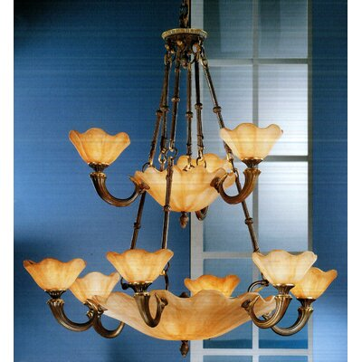 Atlantis 16-Light Shaded Chandelier Finish: Matte Bronze