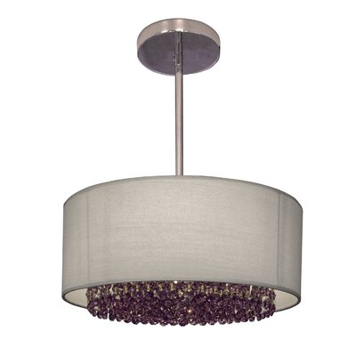 Newport 3-Light Drum Pendant Crystal: Crystalique-Plus Violet