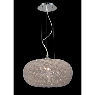 Laguna 1-Light Mini pendant Shade Color: White