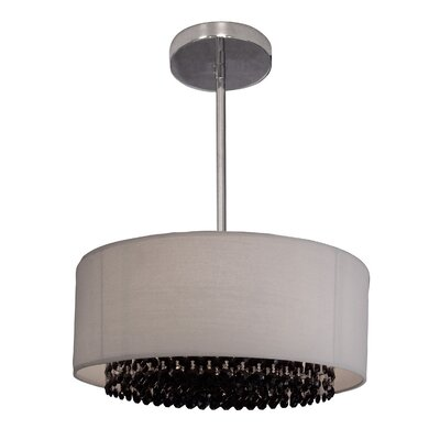 Newport 3-Light Drum Pendant Crystal: Crystalique-Plus Black