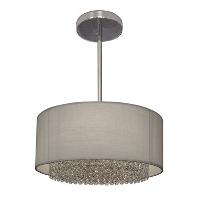 Newport 3-Light Drum Pendant Crystal: Crystalique