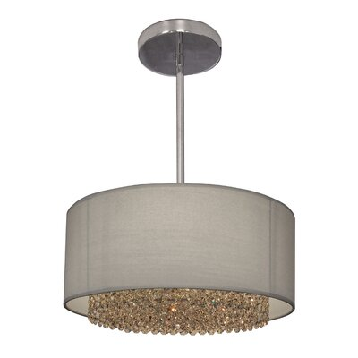 Newport 3-Light Drum Pendant Crystal: Crystalique Plus