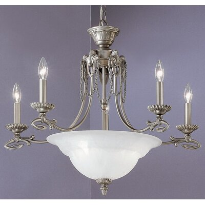 Medallion 8-Light Candle-Style Chandelier Finish: Pewter
