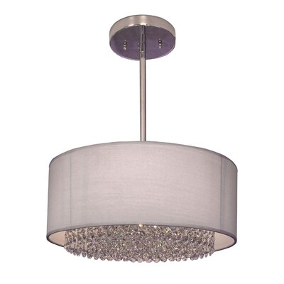 Newport 3-Light Drum Pendant Crystal: Swarovski Spectra