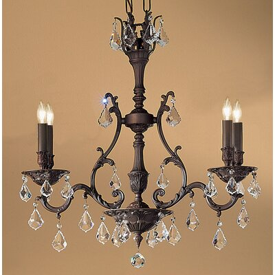 Majestic 4-Light Crystal Chandelier Finish: Aged Bronze