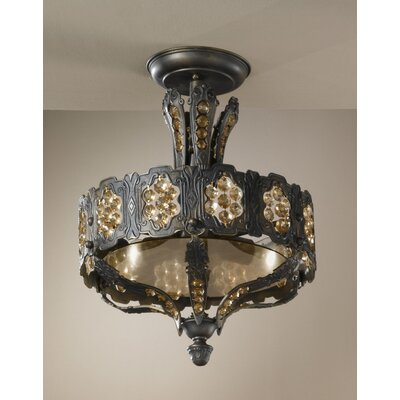 Castillio de Bronce 3-Light Semi Flush Mount