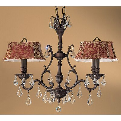 Majestic 4-Light Shaded Chandelier Finish: Aged Bronze