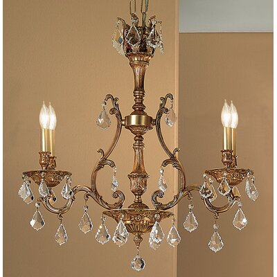 Majestic 4-Light Crystal Chandelier Finish: French Gold