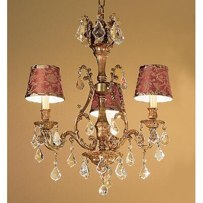 Majestic 3-Light Shaded Chandelier