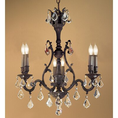 Majestic 6-Light Crystal Chandelier