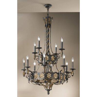 Castillio de Bronce 12-Light Candle-Style Chandelier