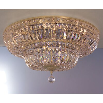 Empress 12-Light Flush Mount Crystal: Crystalique Plus