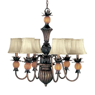 Topaz 6-Light Crystal Shaded Chandelier