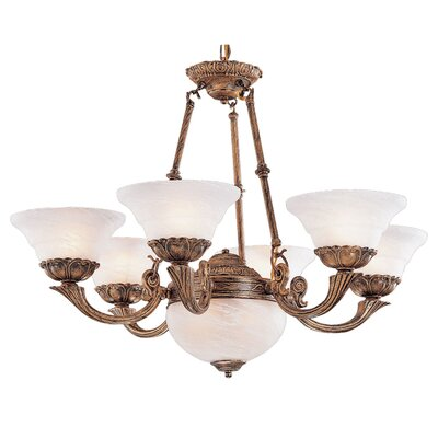 Bordeaux 6-Light Shaded Chandelier Finish: Antique Gold