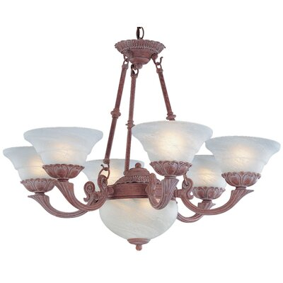 Bordeaux 6-Light Shaded Chandelier Finish: Weathered Clay