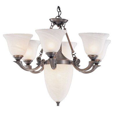 St. Tropez 9-Light Shaded Chandelier