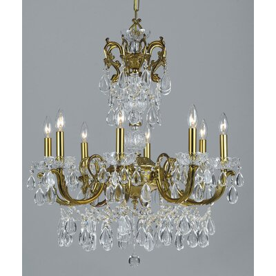 Vienna Palace 8-Light Crystal Chandelier Finish: Renovation Brass