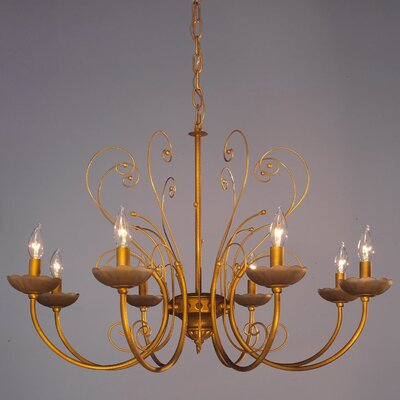 Belleair 8-Light Candle-Style Chandelier Finish: Mocca Gold
