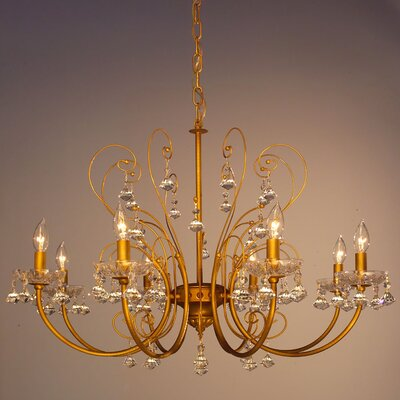 Belleair 8-Light Crystal Chandelier Finish: Mocca Gold