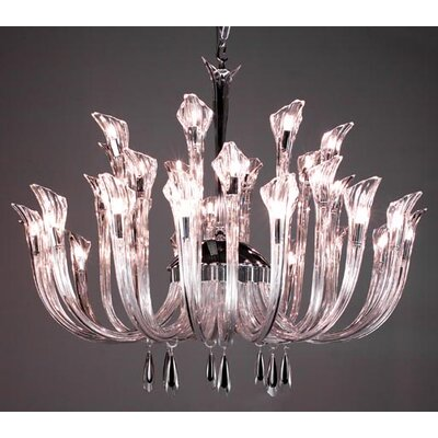 Inspiration 32-Light Crystal Chandelier Crystal: Black Smoke
