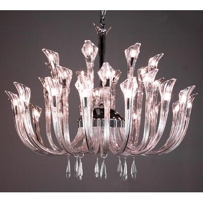 Inspiration 32-Light Crystal Chandelier Crystal: Clear
