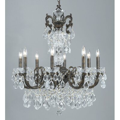 Vienna Palace 8-Light Crystal Chandelier Finish: English Bronze/Gold