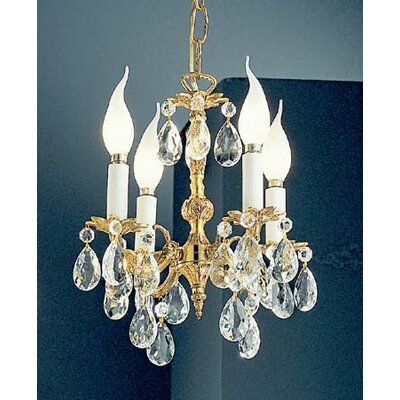Barcelona 4-Light Crystal Chandelier Crystal: Italian, Finish: Olde World Bronze